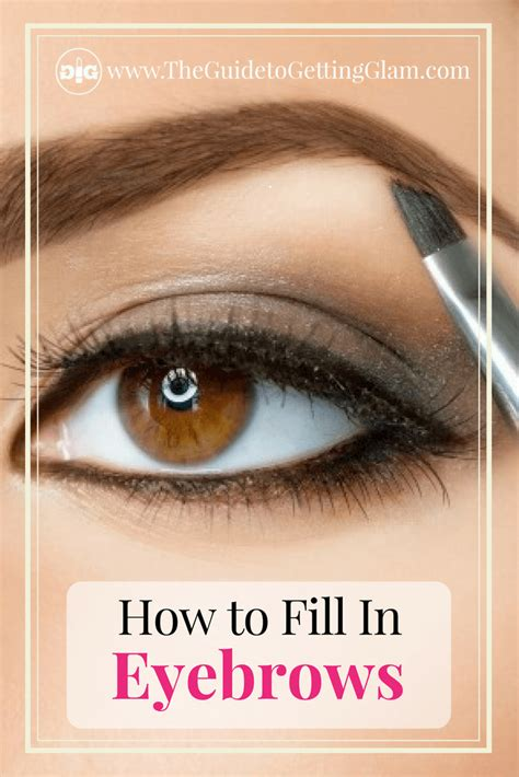proper way to fill in eyebrows how to fill in eyebrows