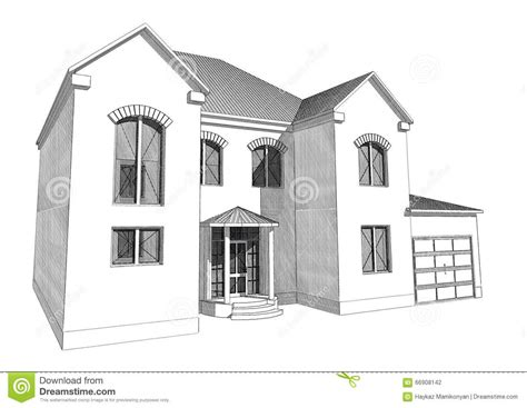 residential house 3d stock illustration illustration of