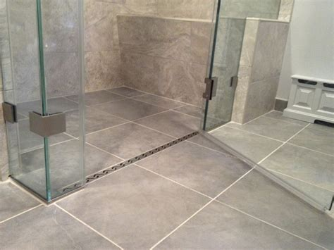 Curbless Shower Design Ideas by Curbless Shower With A Linear Drain Home
