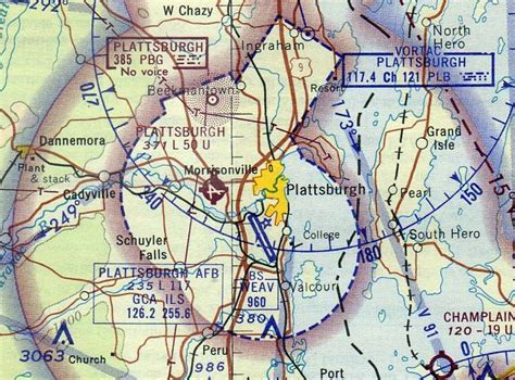 New York Sectional Chart by Abandoned Known Airfields Northeastern New York