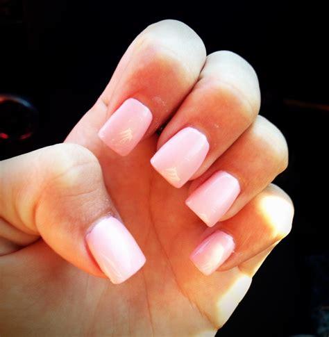 Light Pink Acrylic Nails light pink acrylic nails for next a shorter
