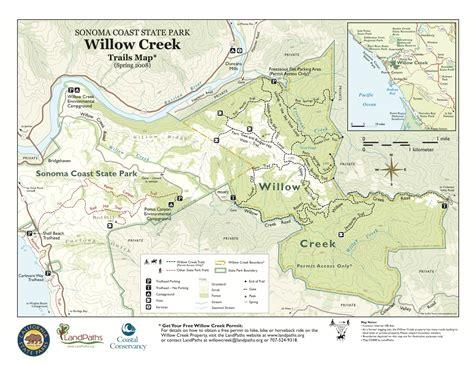 creek state park trail map willow creek sonoma coast state park sonoma hiking
