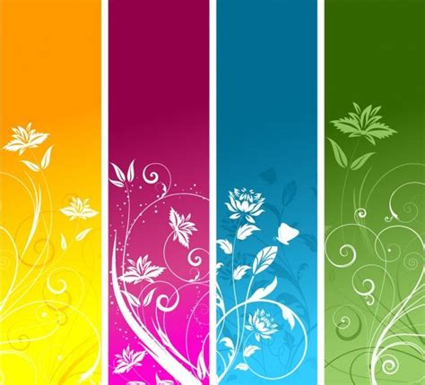free printable nature bookmarks floral banners collection free vector separadores