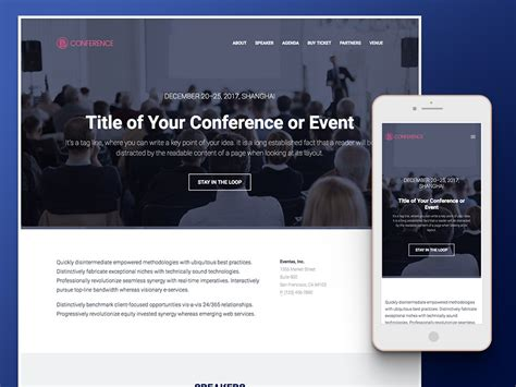 bootstrap templates for event management conference event management html5 template free download