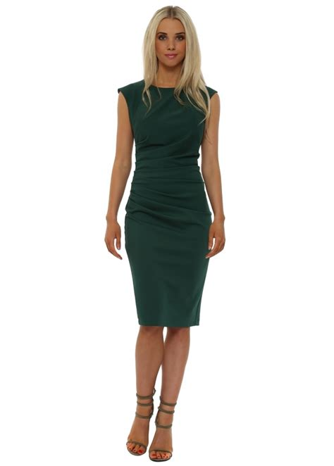 Midi Dress Vb Blink rinascimento green pencil dress