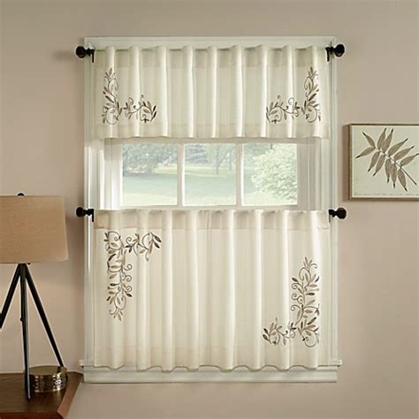 curtain scrolls buy scroll leaf window curtain valance in ivory from bed