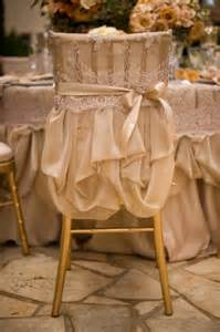 Wedding chair covers vintage inspired wedding