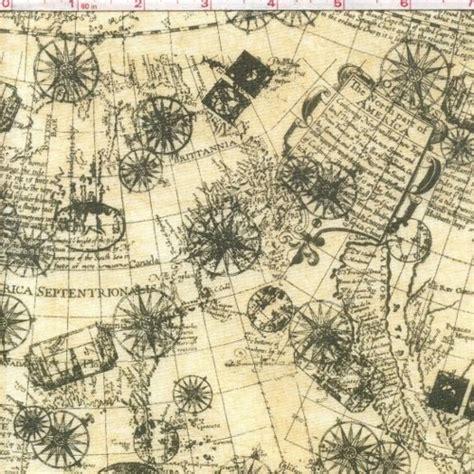 map fabric buy quilt fabric transatlantic antique map fabric mariner compass auntiechrisquiltfabric