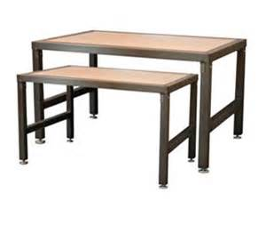 Products Tables Chairs Displays And Steel Frame Nesting Display Table Custom Display Furniture