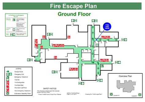 fire exit floor plan fire escape plans
