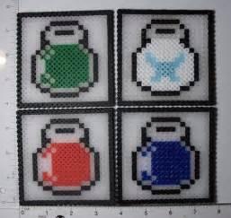 zelda bead pattern legend of zelda potion coasters perler bead patterns