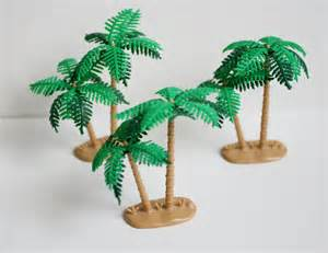plastic palm tree cake toppers plastic palm trees set of