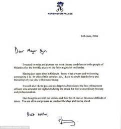 prince harry writes letter of condolence to mayor of orlando pulse club shooting daily