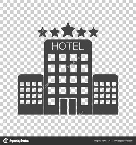 hotel icon layout hotel icon on isolated background simple flat pictogram