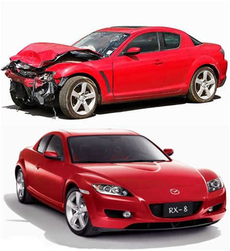 wrecked car before and after related keywords suggestions for salvage vehicles