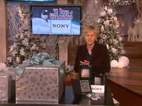 Ellen Show Giveaways - ellen degeneres show ellen s 12 days of giveaway officially begins youtube