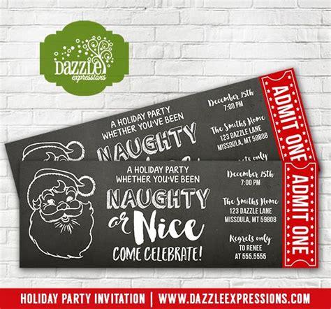 printable santa tickets printable santa naughty or nice holiday party chalkboard