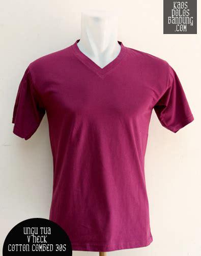 Kaos Polos Cotton Combed V Neck 30 S Size L kaos polos v neck cotton combed 24s sobar clothing