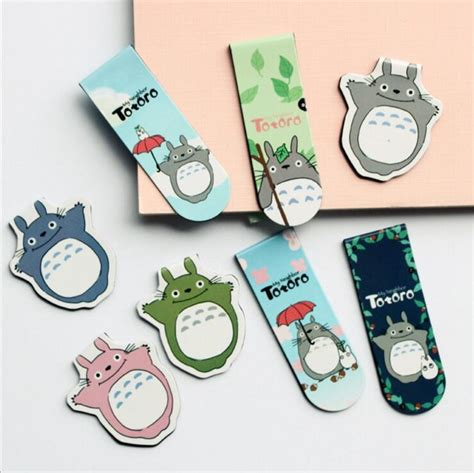 How To Make A Paper Clip Magnetic - 2 pcs pack my totoro magnet bookmark paper
