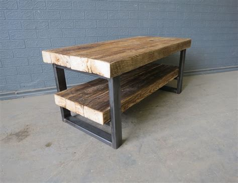 wood and metal tv stand reclaimed industrial chic solid wood metal tv stand