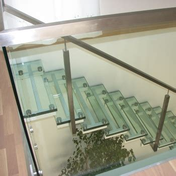 Interior Laser Cut Metal Frame Glass Straight Stairs