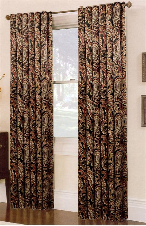 swags galore curtains bali printed blackout curtain espresso renaissance