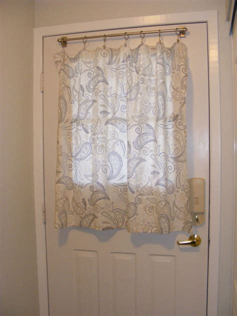 decorating beautiful half door panel curtains door panel