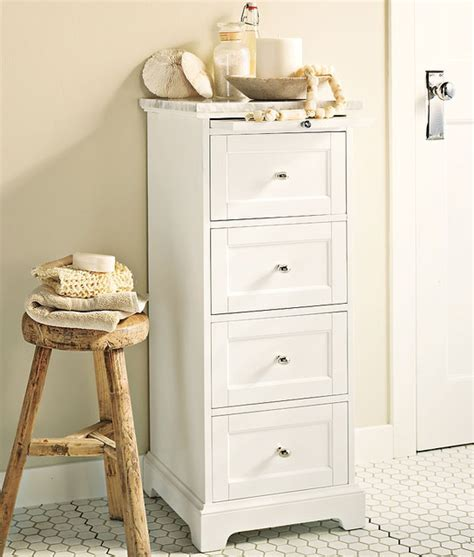 pottery barn bathroom storage marble top sundry tower traditional bathroom cabinets