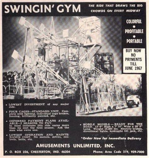 swinging gym a 1966 swingin gym advert amusement ride extravaganza