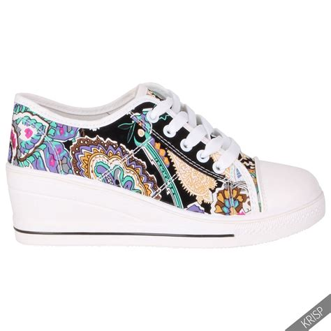 womens high top sneakers part 1 womens ladies canvas high tops heel wedge trainers