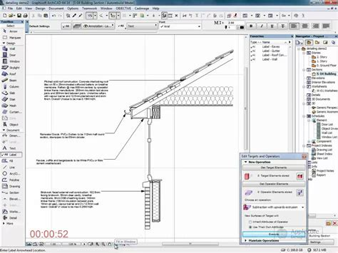 section archicad archicad detailing eaves detail youtube