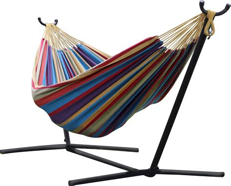 Vivere Hammock With Space Saving Steel Stand vivere uhsdo9 hammock with space saving steel stand
