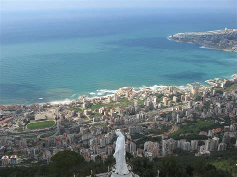 Lebanon Search Harissa Of Lebanon Sea Side View Been There
