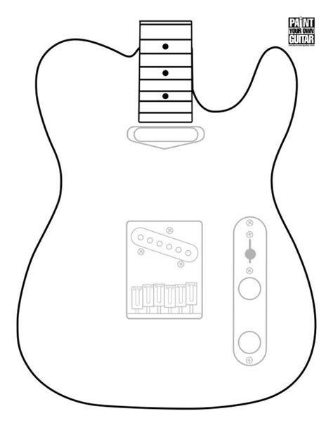 guitar cut out template tele template telecasters ttypes