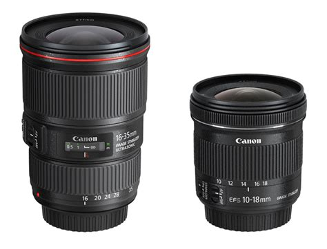 Lensa Wide Canon Ef 16 35mm F 4l Is Usm canon ef 16 35mm f 4l is usm ef s 10 18mm f 4 5 5 6 is stm preview new wide angle glass for
