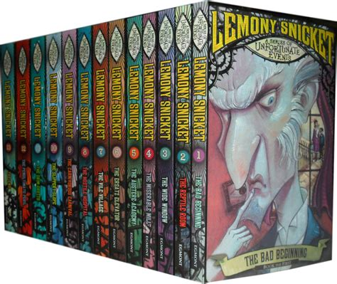 Lemony Sett a series of unfortunate events books set lemony snicket ebay