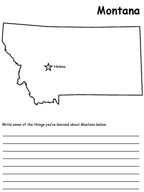 montana map coloring page montana state map colouring pages