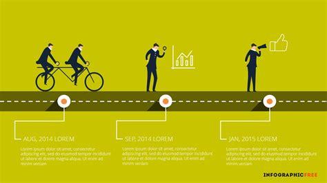 Human Vector Timeline Free PowerPoint Template   Teamwork