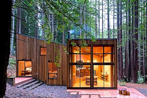 Cabins In The Redwoods Ca by Wooden Sea Ranch Cabin Is Nestled In A Californian Redwood