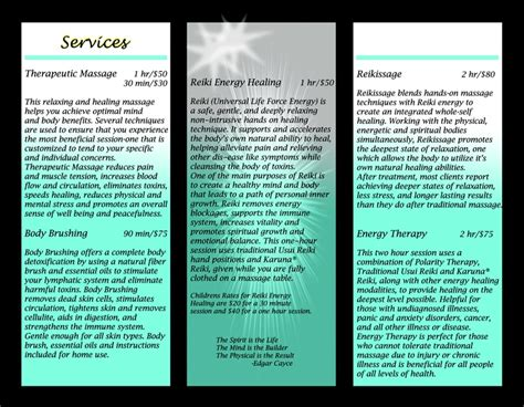 Inside Reiki Brochure Good Description Of Reiki Cool Pinterest Reiki And Brochures Free Reiki Brochure Template