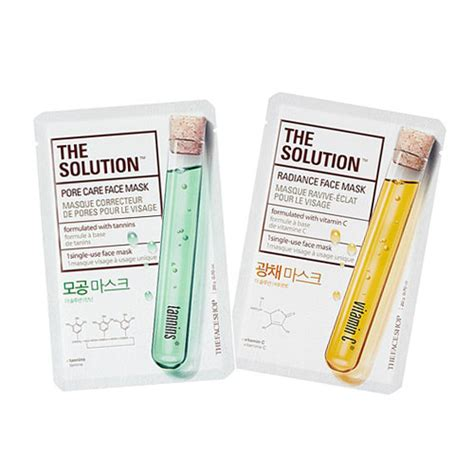 The Shop Sheet Mask the shop the solution mask sheet the shop mask