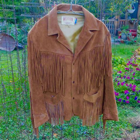 Cowhide Suede - mens cowhide suede fringed western jacket bejewelled