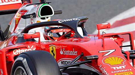formula 1 test news kimi raikkonen to test f1 halo protector