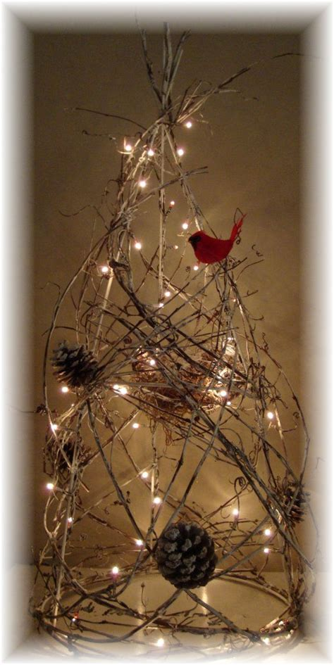 grapevine tree lighted rustic christmas