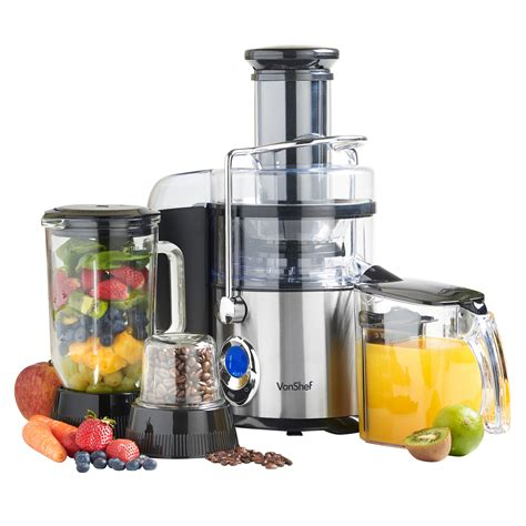 Power Juicer 7 In 1 vonshef 3 in 1 digital whole fruit vegetable power juicer