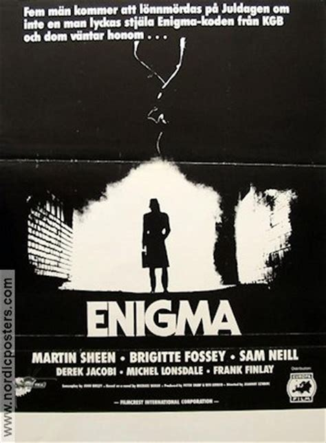 enigma film sheen enigma movie poster 1984 original nordicposters