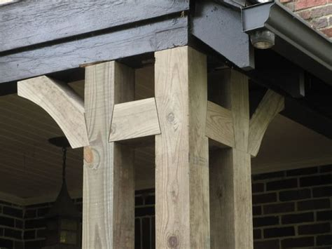 craftsman style front porch posts 228 best charpente images on pinterest