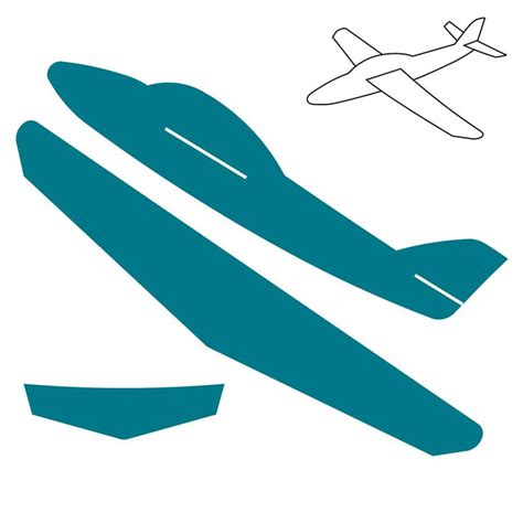 cardboard airplane template click on image to zoom