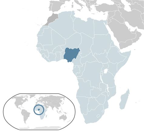 location of the nigeria in the world map