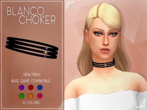 sims 4 cc hair accessories the sims resource enrique s4 blanco choker by jruvv